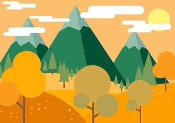 Free Beautiful Vector Autumn - Free vector #395785