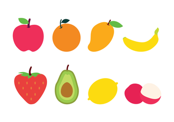 Free Flat Fruit Icons - бесплатный vector #396055
