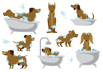 Free Dog Wash Vector - vector gratuit #396065