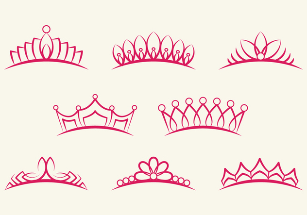 Crown Pageant Set - vector #396085 gratis