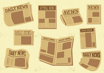 Free Old Newspaper Vector - Kostenloses vector #396095