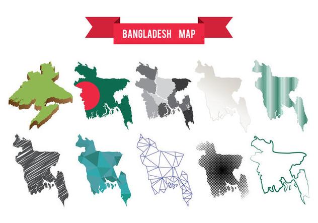 Free Bangladesh Map Vector - vector gratuit(e) #396155