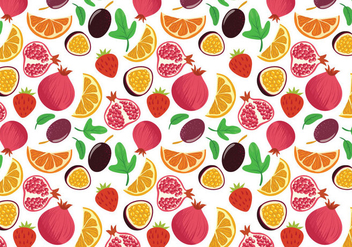 Free Fruit Pattern Vectors - бесплатный vector #396355