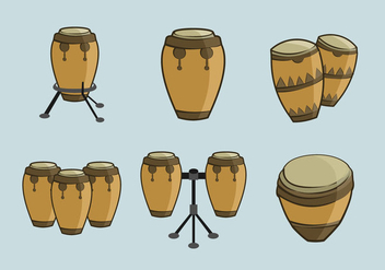 Conga traditional music percussion - Free vector #396395