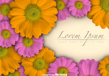 Floral Vector Background - Free vector #396455