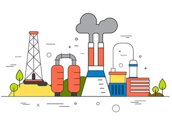 Factory Vector Illustration - Free vector #396575