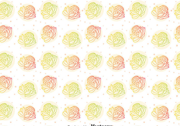 Colorful Protea Flower Pattern - vector gratuit #396625