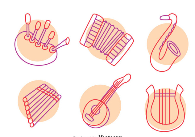 Hand Drawn Music Instrument Vector - vector gratuit #396695