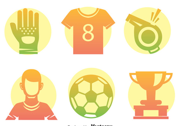Soccer Element Vector Set - Kostenloses vector #396725