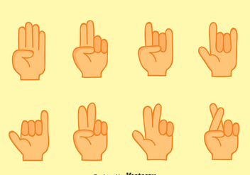 Nice Hand Gestures Collection Vector - Free vector #396745