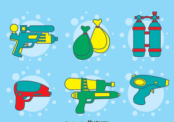 Songkran Festival Element Vector - бесплатный vector #396765