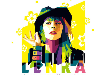Lenka vector portrait - Free vector #396785