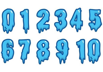 Water Font Vector Numbers - Free vector #396935