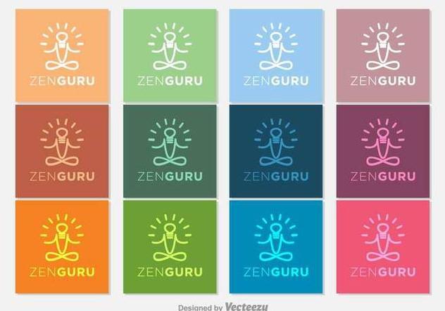Gurú Zen Vector Icons - Free vector #397085
