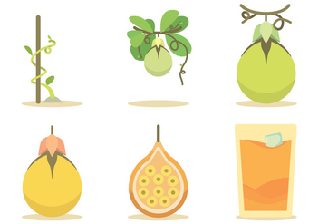Passion Fruit Vector Set - Free vector #397335
