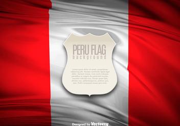 Peru Flag Illustration Banner - Free vector #397405