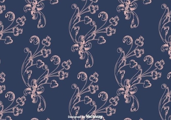Blue Vintage Pattern - Free vector #397425