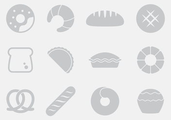 Gray Bread Icons - vector gratuit #397715