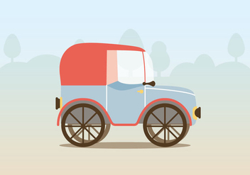 Vector Vintage Car Illustration - бесплатный vector #397865