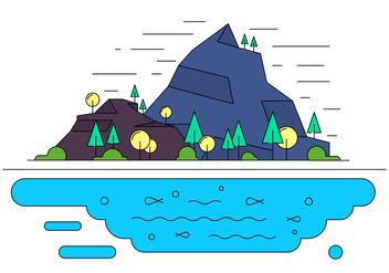 Free Landscape Vector Illustration - Kostenloses vector #398145