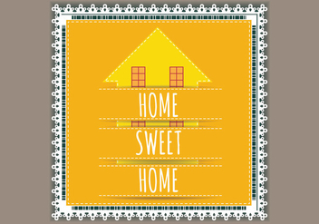 Lace Welcome Home Vector - vector #398165 gratis