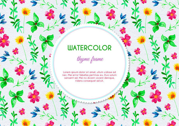 Free Vector Watercolor Herb and Flower Background - vector gratuit(e) #398205