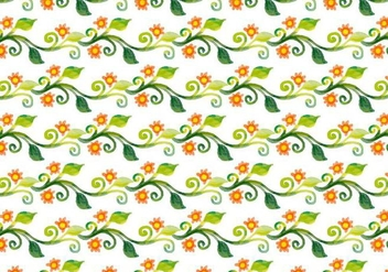 Free Vector Watercolor Floral Vine Background - Free vector #398475