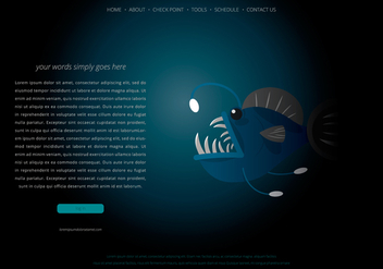 Angler Fish Webpage Template - Free vector #398675