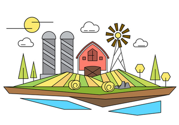 Farm Vector Illustration - Free vector #398735