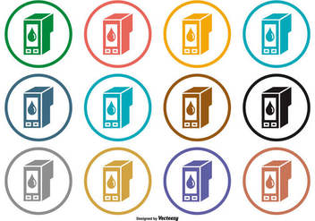 Ink Cartridge Icons - vector gratuit(e) #398765