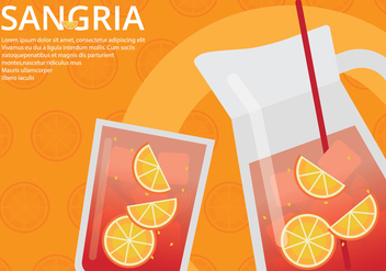 Sangria Event Poster Template - vector #399055 gratis