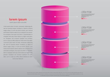 Pink Tower Infographic Template - vector gratuit #399065