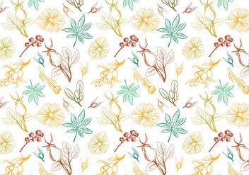 Free herbs Pattern Vectors - Free vector #399385