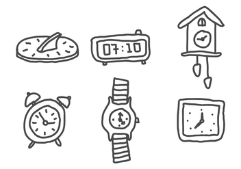 Set of Clocks - vector gratuit #399525