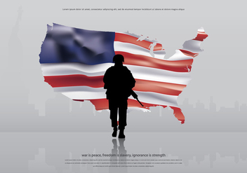 AR15 America Army Illustration - Free vector #399625