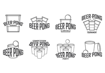 Free Beer Pong Logo Vector - Free vector #399655
