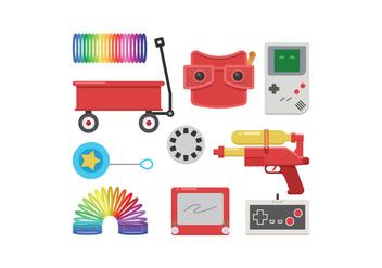 Free Retro Toys Vector - Kostenloses vector #399695