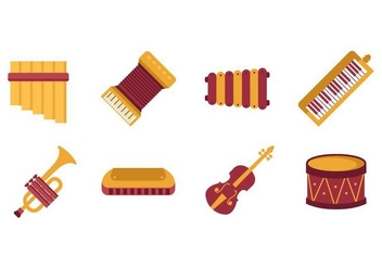 Free Music Instrument Vector - бесплатный vector #400005