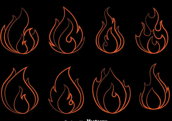 Fire Flame Outline Vector - vector #400265 gratis
