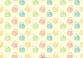 Colorful Pongal Seamless Pattern - Free vector #400305