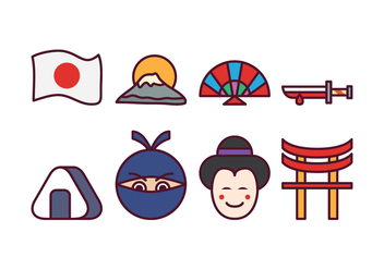Free Japan Icon Set - vector gratuit #400405
