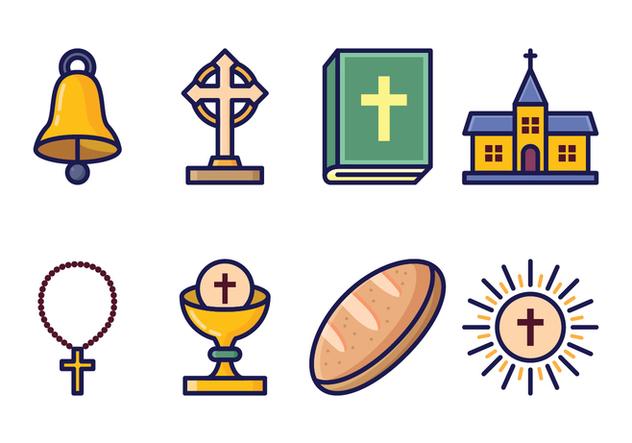 Free Eucharist Icon Set - Free vector #400425