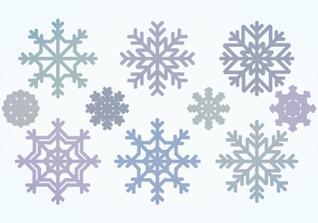 Vector Snowflake Collection - Kostenloses vector #400495