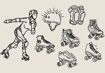 Roller Derby Icon - Free vector #400585