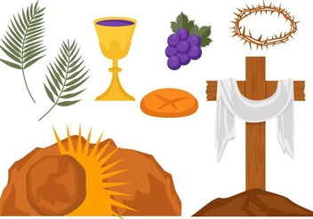 Free Holy Week Vector Illustration - бесплатный vector #400675