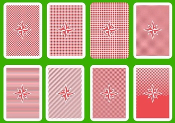 Free Playing Card Back Vector - Kostenloses vector #400725