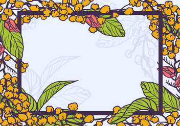 Yellow Mimosa Flowers As A Frame Vector - vector gratuit(e) #400775