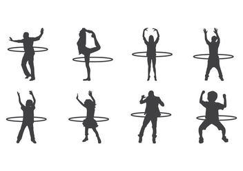 Free Hula Hoop Silhouettes Vector - Free vector #400985