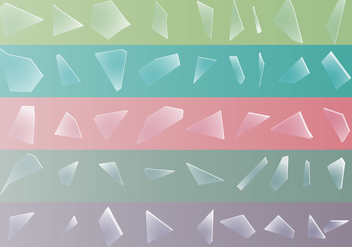 Shatter of the broken glass set - Free vector #401085