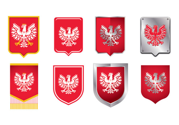 National Arms of America Poland Eagle - бесплатный vector #401115